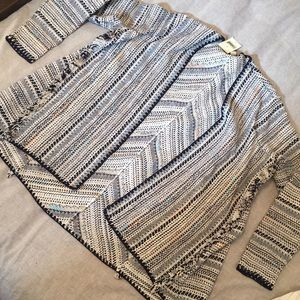Woven blanket cardigan